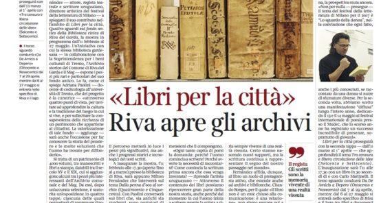 """Milton Fernández a Riva del Garda alla manifestazione """"I libri in città"""""""